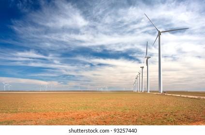 A wind farm in west Texas.