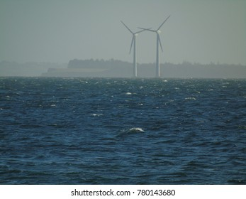 Wind farms by the sea Horsens Danmark