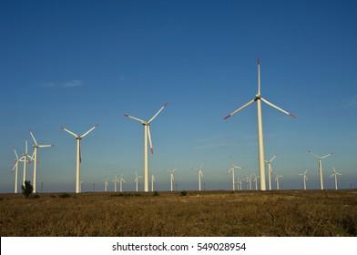 Wind generators in Bulgaria Eastern Europe