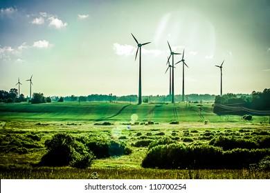 Wind Generators, Ecology - Shutterstock ID 110700254