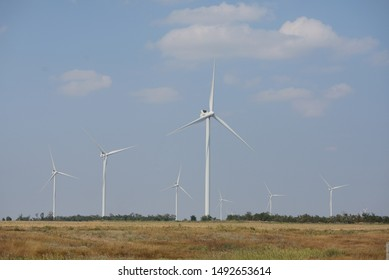 wind generators in the field. windmills