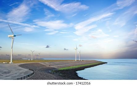 wind generators on coast