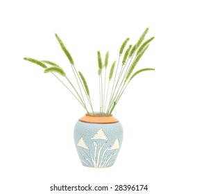 the wind green flower vase