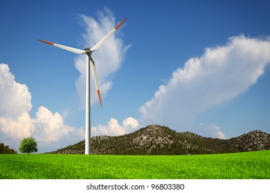 Wind and green nature