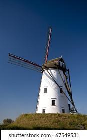 wind mill in damme, belgium