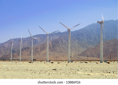 Wind mill farm for alternative renewable energy
