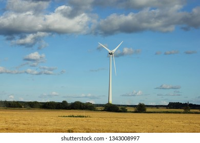 Wind mill in a field