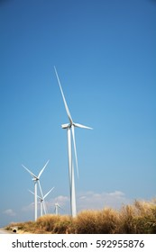 Wind mill power plant on Khao Kho, Phetchabun city,Thailand.