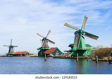 wind mill of Zaanse Schans, Netherland