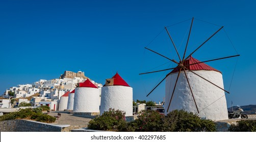 Wind mills in Astyplaia island Greece