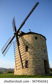 Wind mills in sunny day