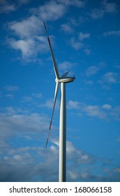 Wind park on a green field