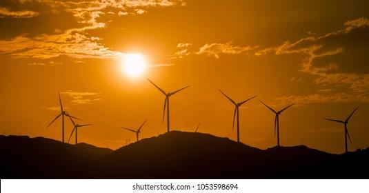 Wind power concepts, la rumorosa baja california. MEXICO