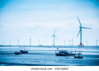 wind power farm in yancheng seashore,develop shoals concept