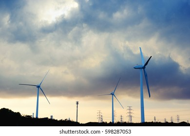 Wind power generation, renewable energy
