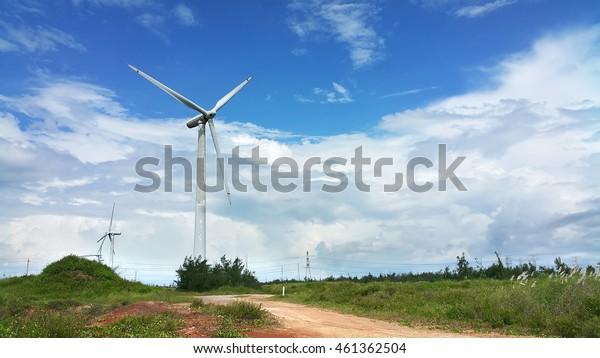 Wind power in the grassland
