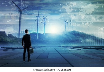 wind power plant. renewable energy concept.