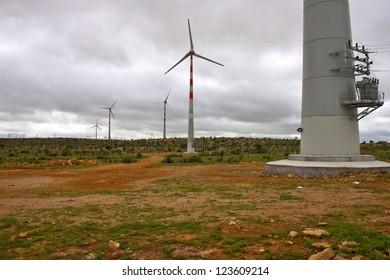 Wind power plants at Thar desert, India