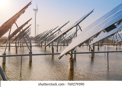 Wind power and Solar power generation in China