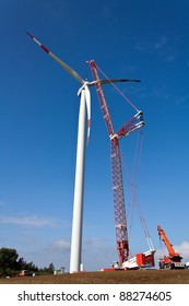 Wind power station in Construction