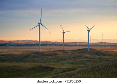 Wind power stations Wind power is the use of air flow through wind turbines to mechanically power generators for electric power.