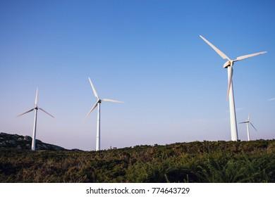 Wind power turbine station