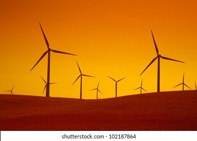 Wind powered electricity turbines