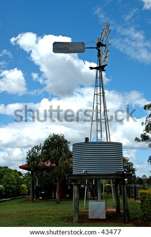 wind powered water pump stock photo edit now 43477 shutterstock