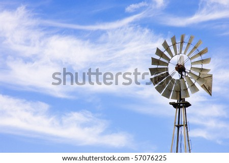 wind powered water pump on farm stock photo edit now 57076225
