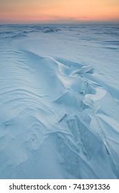 Wind shaped snow