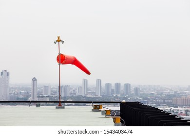 Wind sock(helipad on the roof of the building)