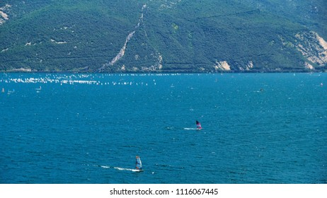 Wind surf on Garda Lake
