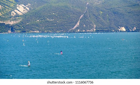 Wind surf on Lake Garda Trentino