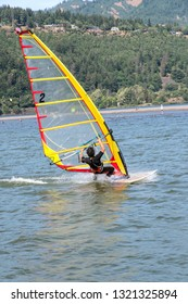 Wind Surfing and sailing in Hood River Oregon.
