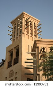 Wind Tower as symbol of traditional building in UAE