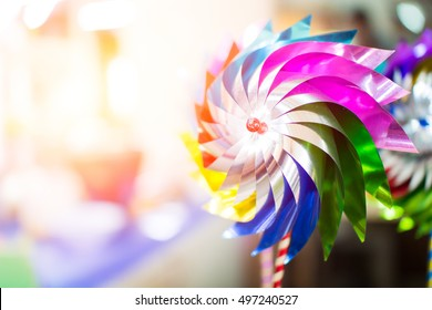 Wind toy with light effect background