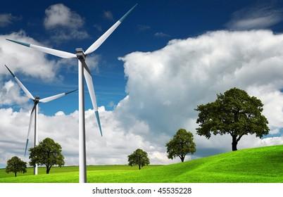 Wind turbine, alternative energy