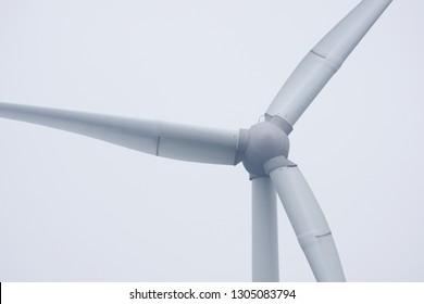 Wind turbine close up view