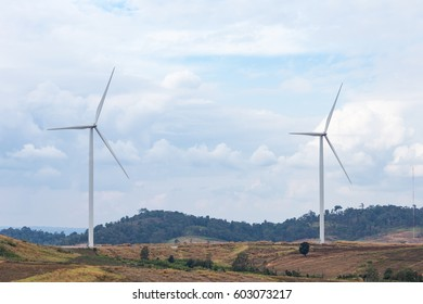 Wind Turbine for Electric on the blue sky