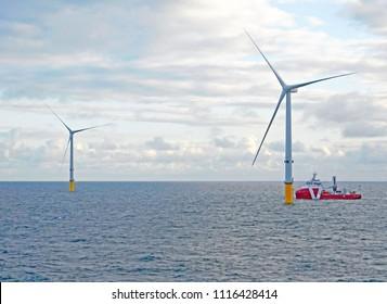 Wind Turbine erection for offshore sea ocean
