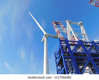 Wind Turbine erection for offshore sea ocean