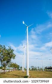 Wind turbine in the farm