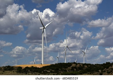wind turbine generating renewable energy