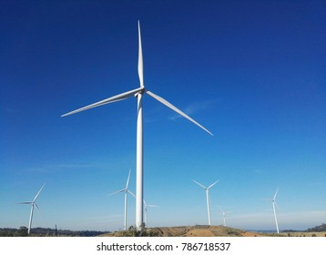 The wind turbine is located on the top of Khao Kho.