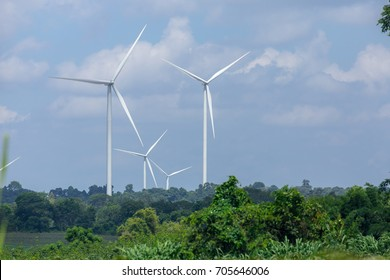 Wind turbine made green energy,when wind flow can be used to generate electricity.