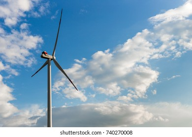 Wind turbine. Modern source of electric energy