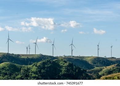 wind turbine  Phetchabun Thailand