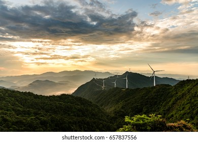 Wind turbine production of green energy