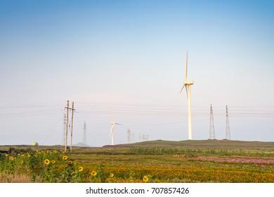 Wind turbine production of green energy