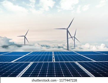 Wind turbine and solar power panel